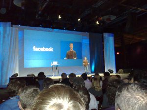 Mark Zuckerberg at Facebook's annual developer conference F8