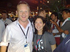 Toby Beresford and Randi Zuckerberg at F8
